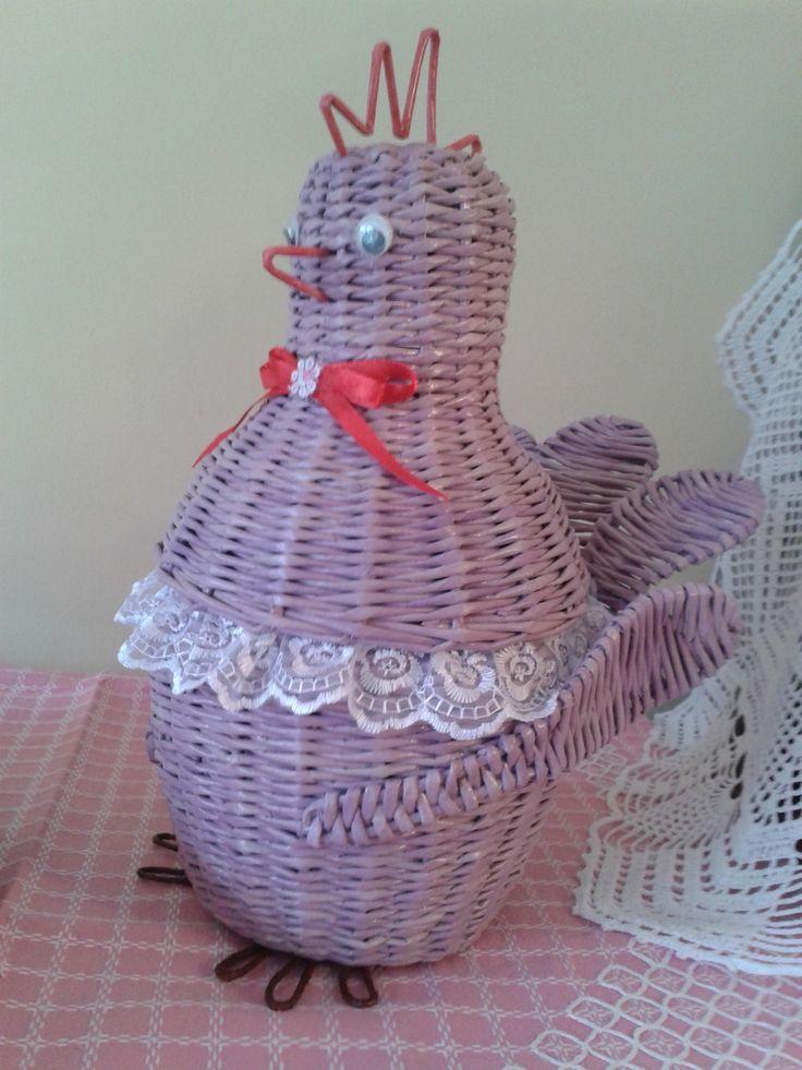 """чайный набор """"Весна идет, весне дорогу..."""". плетение из бумаги, курочка-конфетница"""