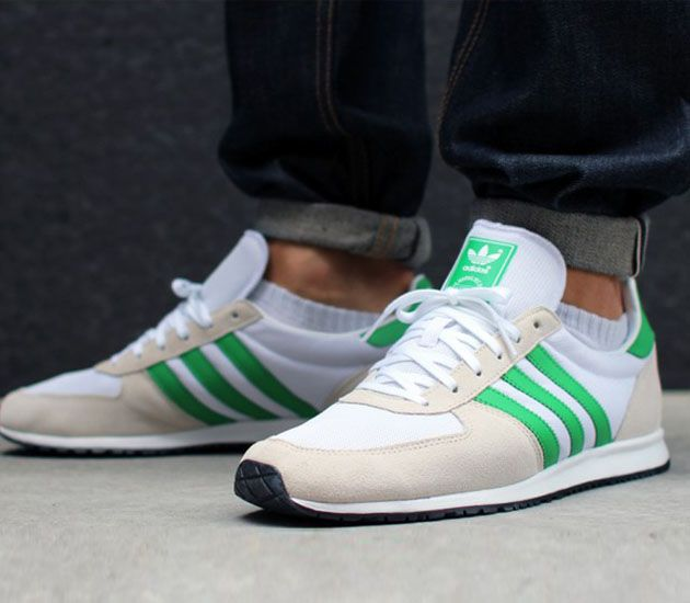 adidas Originals Adistar Racer – Running White / Bliss – Real Green