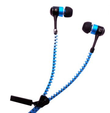 iCandy Zip Earphones. Fantastic zip cable earphones that give a novel and highly fashionable way of wearing your in ear buds.