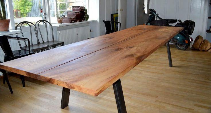 Plankeborde | Vi designer rustikke møbler: planke sofabord, planke spisebord mv.