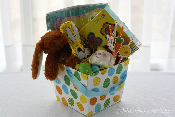Kids Easter Hampers - Makes, Bakes and Decor http://makesbakesanddecor.com/kids-easter-hampers/