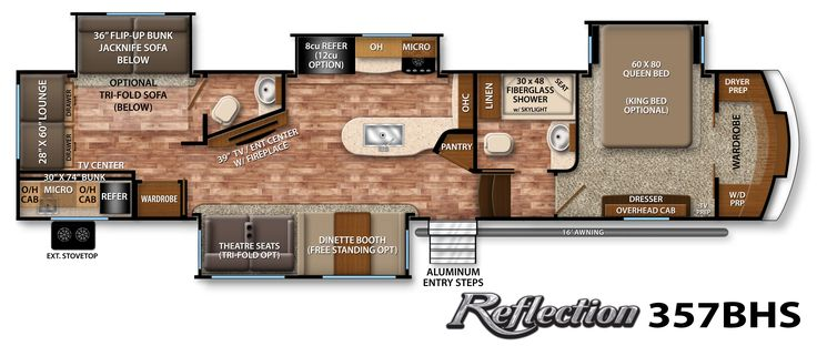 Reflection Fifth-Wheel Specifications   Grand Design RV. Dream kitchen! 1' too long...