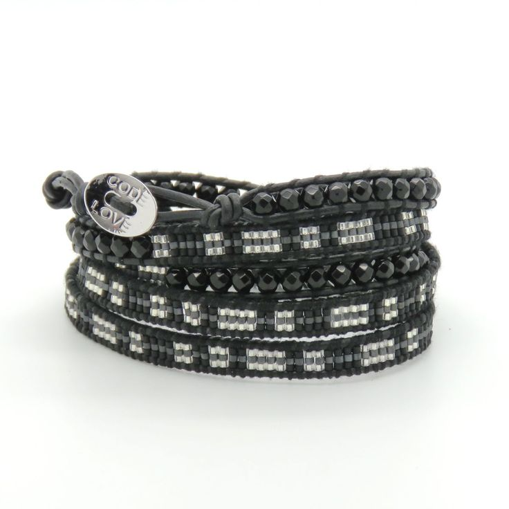 CODE LOVE 'BALANCE' Morse Code Seed Wrap Bracelet - This bracelet has been hand crafted using the finest quality seed beads bound onto leather and finished with a signature Code Love button. www.codelove.com.au