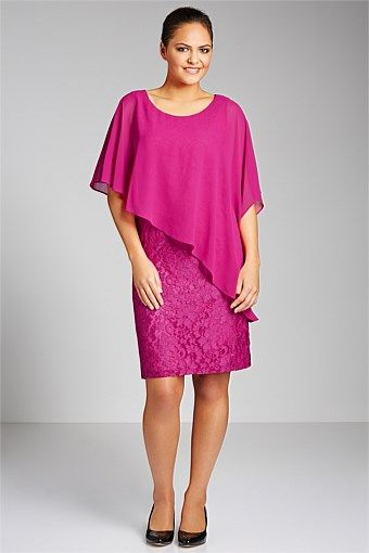 Dresses | Buy Women's Dresses Online - Sara Overlay Lace Dress - EziBuy New Zealand