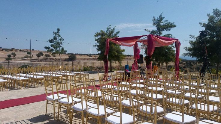 Hindu Wedding ceremony planned and set up from Cat - Paphos Weddings Made Easy
