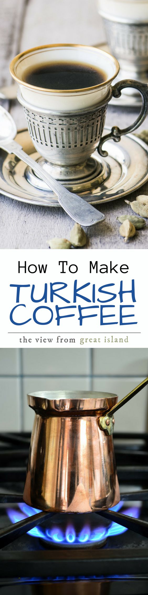 How to Make Turkish Coffee ~ the perfect cup of coffee might not be from Starbucks after all ~ this sensuous brew is full-bodied, fragrant, and utterly delicious.