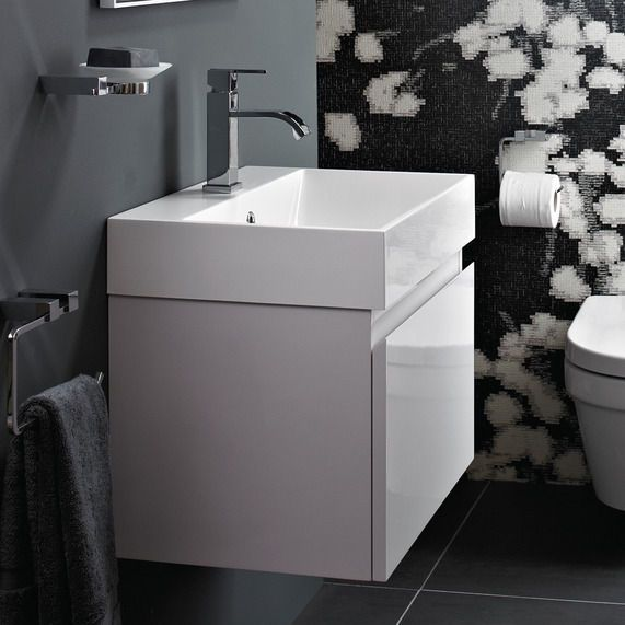 Mino 600 Drawer Unit And Basin - White Gloss | bathstore