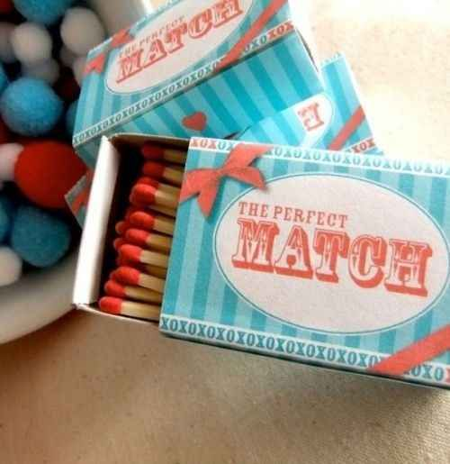 Remember that you can do endless pun-y things with matches.   25 Ways To Make Your Wedding Funnier