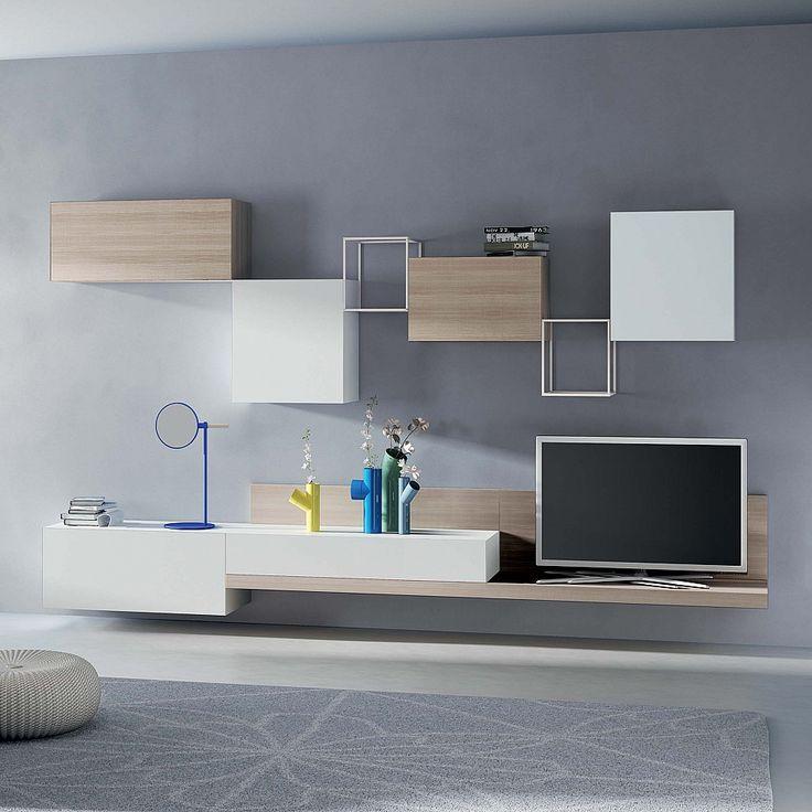 TV Unit Kube I by Santarossa. #contemporaryfurniture #livingroominterior…