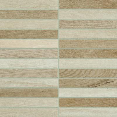 Mosaico Visual Wood 30 X 30 beige