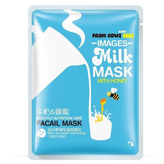 Images Milk Mask With Honey тканевая маска для лица с мёдом и ...
