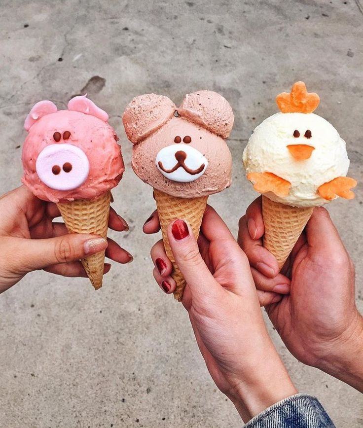 ice cream animals. so cute