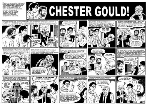 Jay Lynch and Robert Crumb pay a visit to Chester Gould.