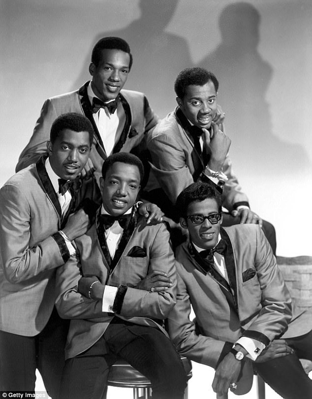 The good ole days: Studio group shot of the Temptations in 1968. Clockwise from top left: Paul Williams, Melvin Franklin, Eddie Kendricks, Edwards, Otis Williams
