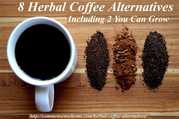 Check out these natural, caffeine free, herbal coffee alternatives for a healthier morning habit or a warm and toasty drink that won't keep you up at night.