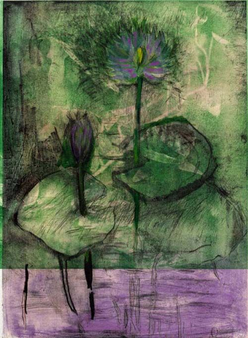 lilithsplace:  'Lavender Band (From Flowers in Manhattan)', 1999 - Jim Dine (b. 1935)