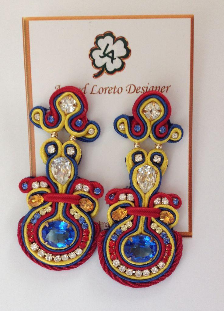 Soutache earrings. Model: Venezuela 8D 2013