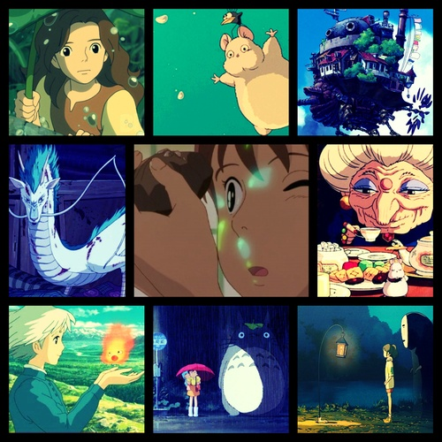 Ghibli CollageStudio Ghibli, Buckets Lists, Not Them Miyazaki, Ghibli Marathons, Ghibli Collage, Ghibli Studios, Music Movies T V, Monkeys Schools, Studios Ghibli