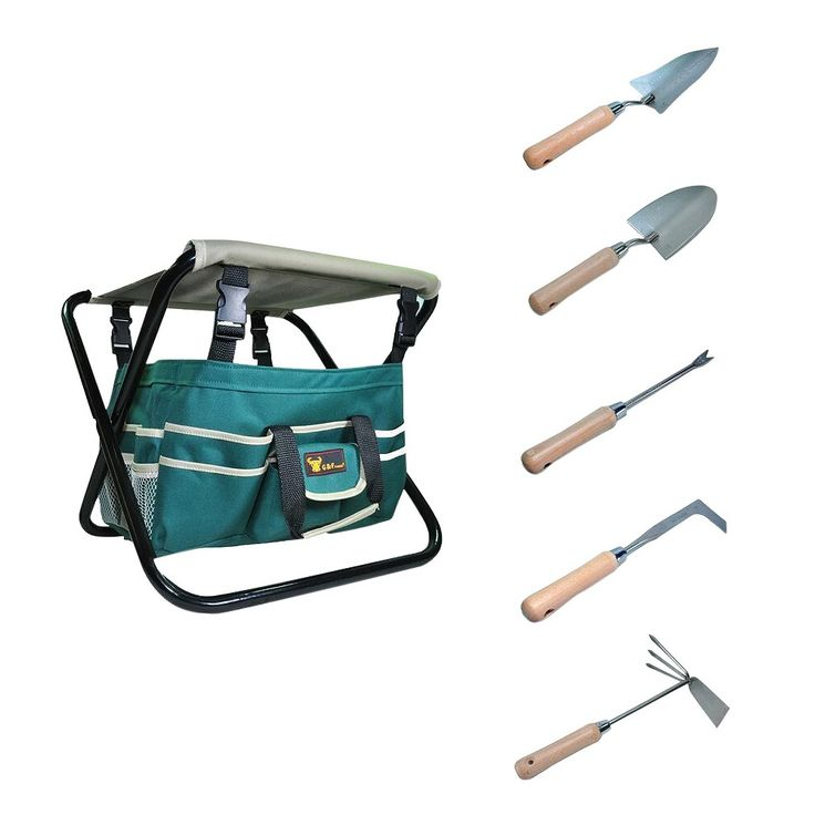 Detachable Canvas Tool Bag and Heavy Duty Steel Tools - Green - G & F