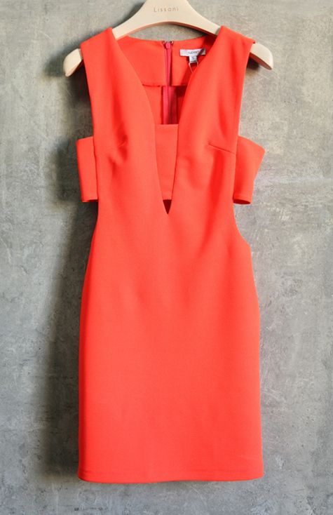 Perfect coral cutout dress