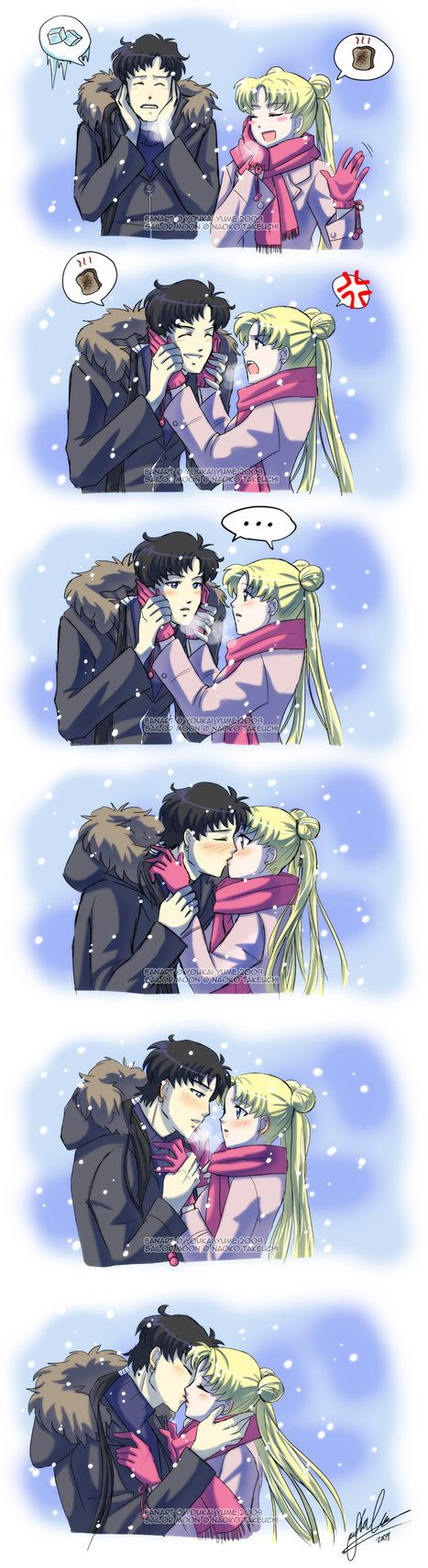 Serena and Seiya - I don't like them together, because Serena and Darien forever, but this is pretty cute.