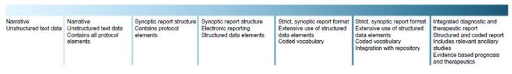 Figure 1 Stages in the development of synoptic reporting and discrete data capture.