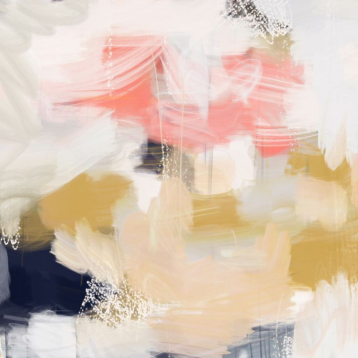 Emmi by Patricia Vargas // Parima Studio // Abstract pink, blue, yellow painting
