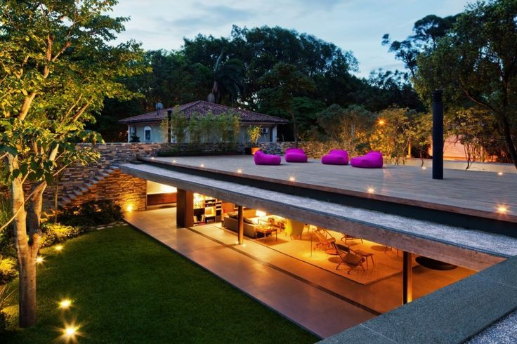 Oh wow: Sao Paulo, Roof Decks, Modern Architecture, Underground Home, Roof Terraces, Studios Mk27, Houses Design, V4 House, Rooftops