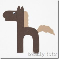Wow- This is one of the cutest Letter craft sites I have found!  Both Upper Case and Lower Case letters are crafted and the website explains in detail how to duplicate them.  Very nice site called Totally Tots.