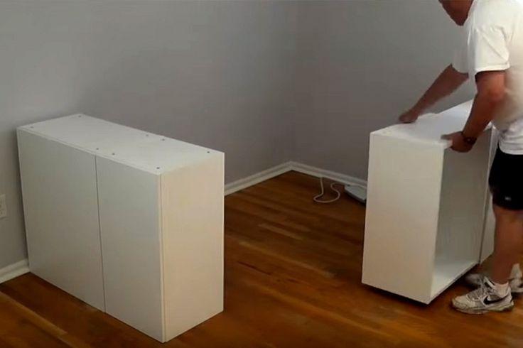 Ce papa installe des armoires de cuisine dans la chambre à coucher, le résultat? Épatant!