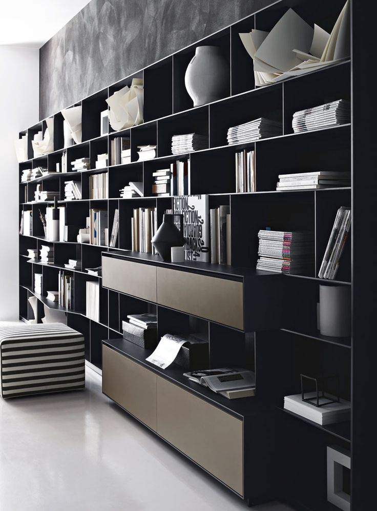 Bu0026B Italia System Bookcase FLAT.C By Antonio Citterio / Interior Decor U0026  Styling