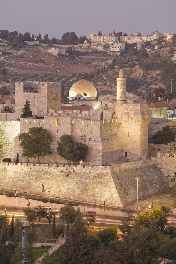 ✭ Dome of the Rock with Tower of David Museum, at Jaffe Gate in Jerusalem's Old City, Israel