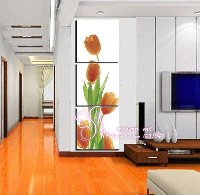 venta caliente marco no 3 pieza de la pared de imagen atractiva pero unblooming tanta belleza impresa pintura decoración de hogar impresa sobre lienzo