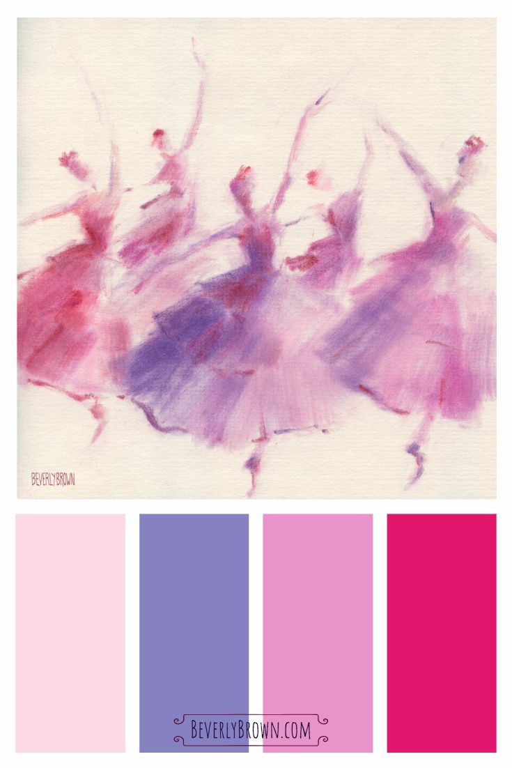 Waltz Of The Flowers Ballet Art Print Purple Color Schemes