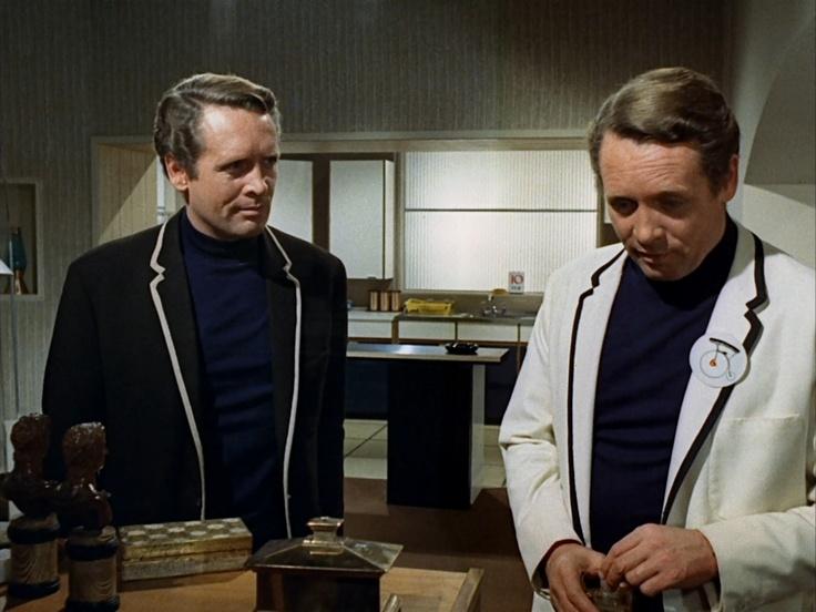 Patrick McGoohan and ... Patrick McGoohan in  The Prisoner episode 'The Schizoid Man'.