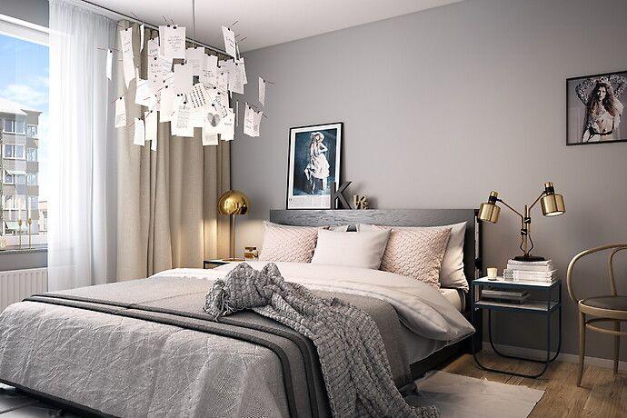 Bilder, Sovrum, Säng, Mässing, linnelakan, Guld, lampor - Hemnet Inspiration