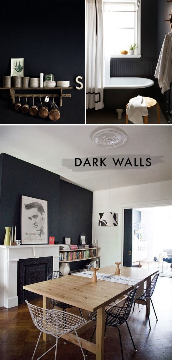 I love dark walls