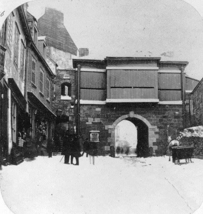 Prescott Gate, Quebec City by William Notman
