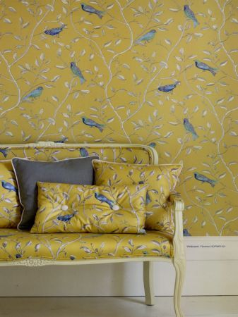 Sanderson Finches (DOPWFI103). Roomset shown in same or different colourway.