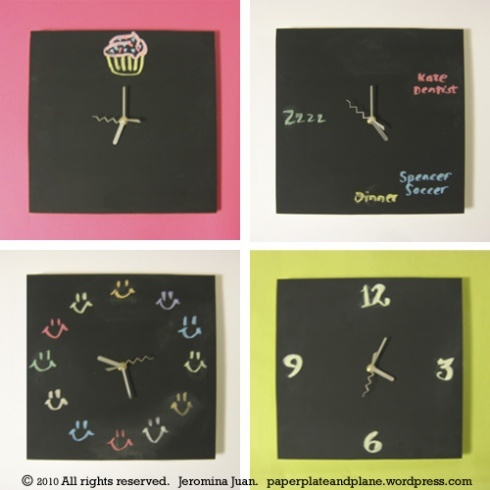 Chalk Board clock! Wow! Great gift idea with the added bonus of being DIY.