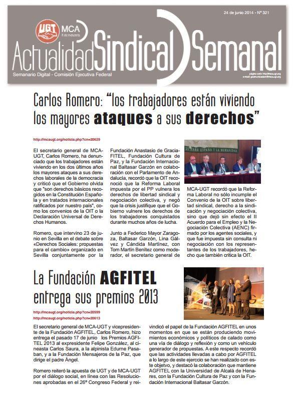 Ha salido Actualidad Sindical Semanal 321 http://mcaugt.org/documentos/0/doc13151.pdf