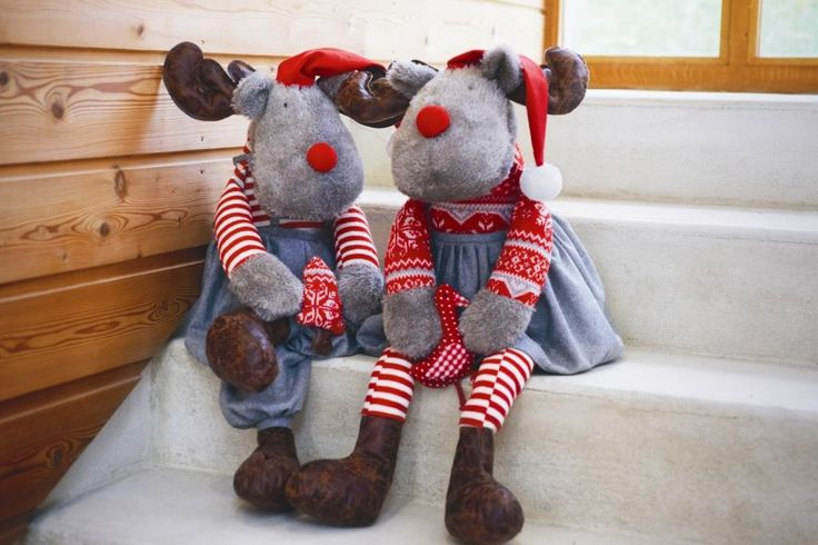 christmas fluffy deer toys