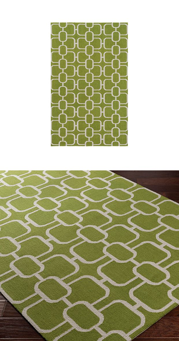 The grass is indeed greener with our Courtyard Area Rug. This wool design is hand hooked and features a low pile with a cotton canvas backing. Made in India.  Find the Courtyard Area Rug, as seen in the Fresh Meets Eclectic at The Graduate, Oxford Collection at http://dotandbo.com/collections/fresh-meets-eclectic-at-the-graduate-oxford?utm_source=pinterest&utm_medium=organic&db_sku=119300