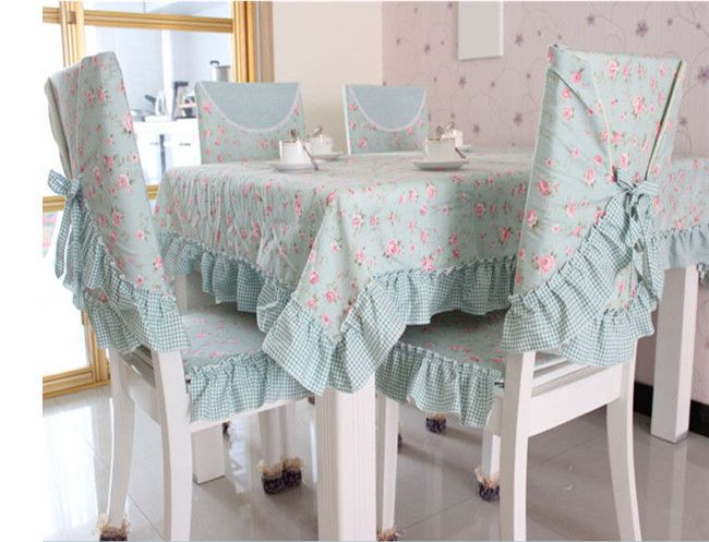 XS 2015 새로운 한국어 정원 dshy 녹색 식당 테이블 커버 세트 식사 의자 식탁보 테이블 천 의자 쿠션 커버 쿠션(China (Mainland))