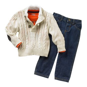 Cradle Togs Cable-Knit Sweater Set - Baby