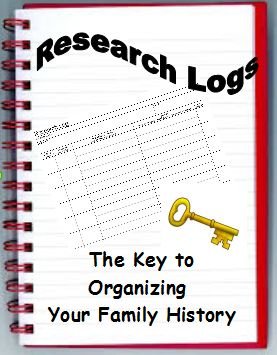 Research Logs: The Key to Organizing Your Family History. They're a great way to stay organized and on track with our genealogy research!