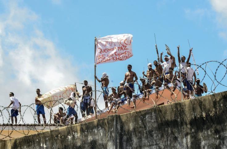Οι αρχές στη Βραζιλία αναζητούν 62 κρατούμενους που απέδρασαν κατά τη νέα εξέγερση σε φυλακή