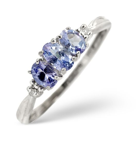 Tanzanite 0.59CT And Diamond 9K White Gold Ring The Diamond Store 240 €