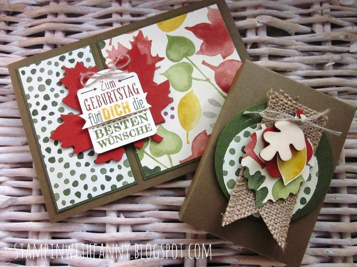 stampin with fanny: Herbstbox mit Envelope Punch Board