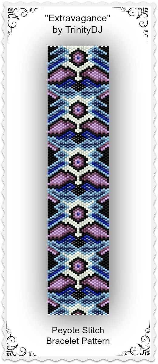 "New listing in my Etsy shop: ""Extravagance"" - Odd Count Peyote Stitch Bracelet…"